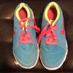 Nike blue and pink sneakers size 6